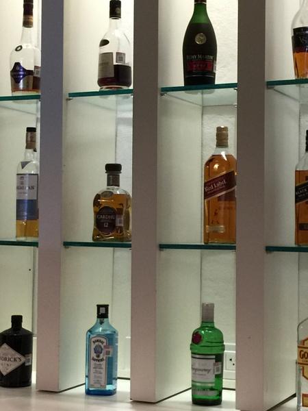 Liquor selection in EC Lounge by Lovethesun
