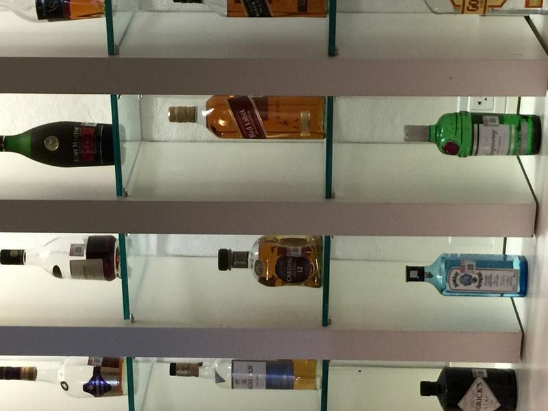 Liquor selection in EC Lounge