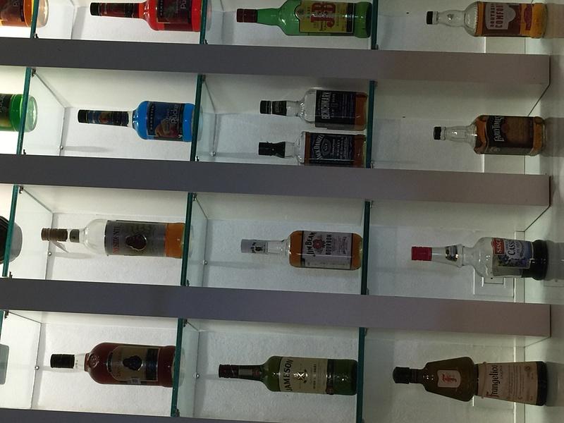 Liquor selection EC Lounge