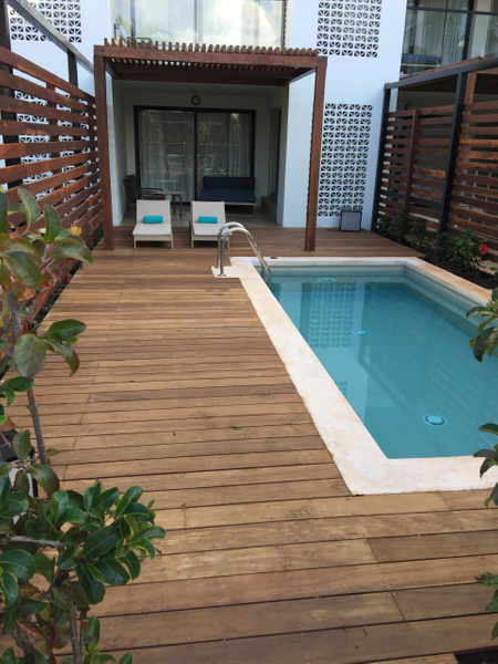 Suite with Private pool, building #1 with new decking by...
