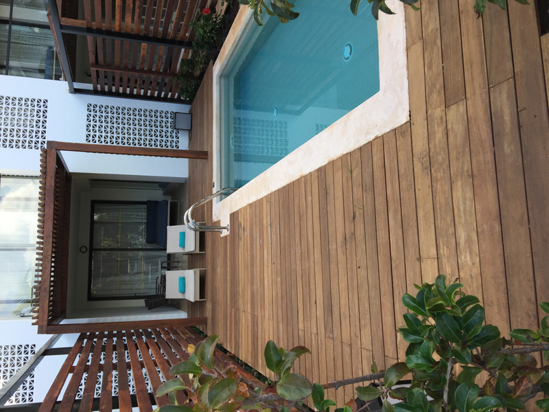 Suite with Private pool, building #1 with new decking