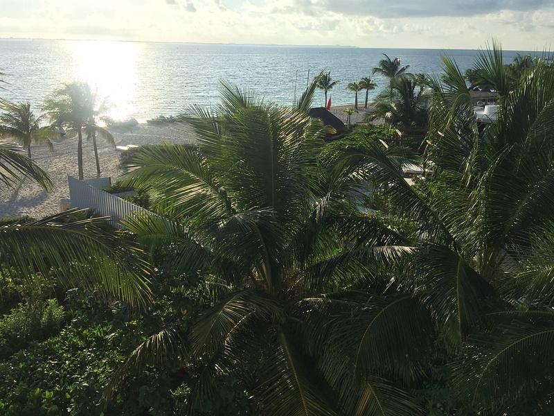 Looking towards the beach area next door at EPM