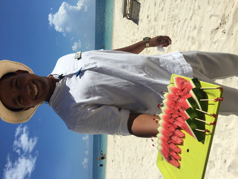 Finest Club Beach concierge delivers an afternoon treat