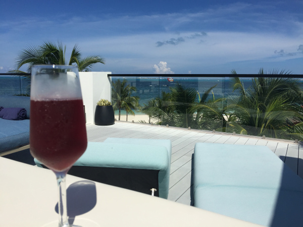 View from EC Imperial Suite RTT #6159 with a glass of...