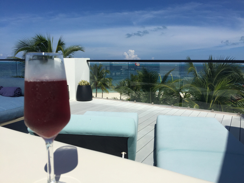 View from EC Imperial Suite RTT #6159 with a glass of rose champagne