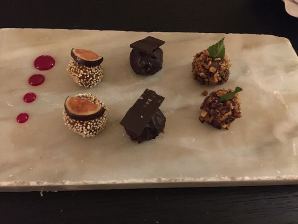 Chocolate Truffles delivered to room by Lovethesun