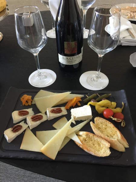 Cheese plate and Zinfandel - Courtesy of Javier...