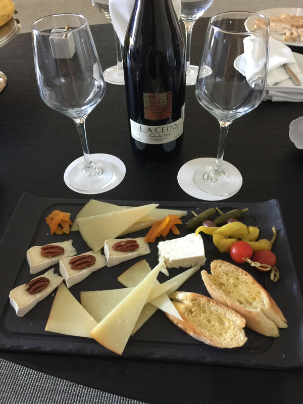 Cheese plate and Zinfandel - Courtesy of Javier Cambranis