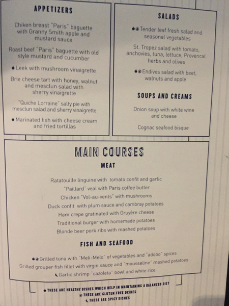 Bistro lunch menu by Lovethesun