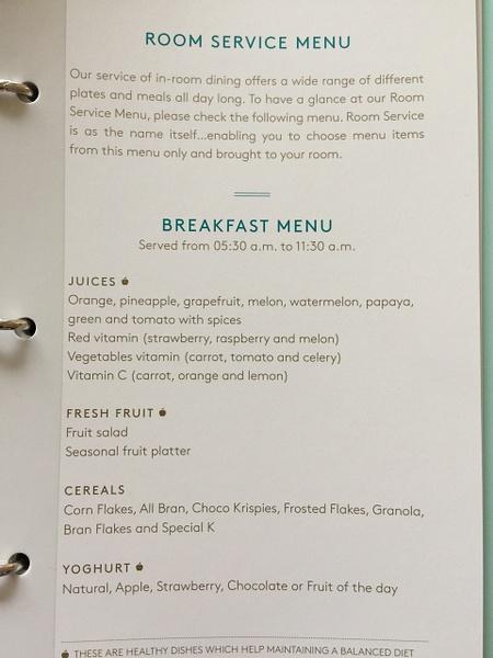 Room service menu by Lovethesun