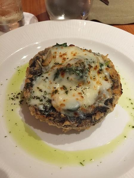 Stuffed portobello mushroom at Brass Steakhouse by...
