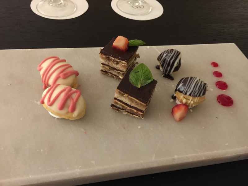 Evening sweets delivered to the room