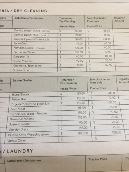 Dry  Cleaning Price Sheet by Lovethesun