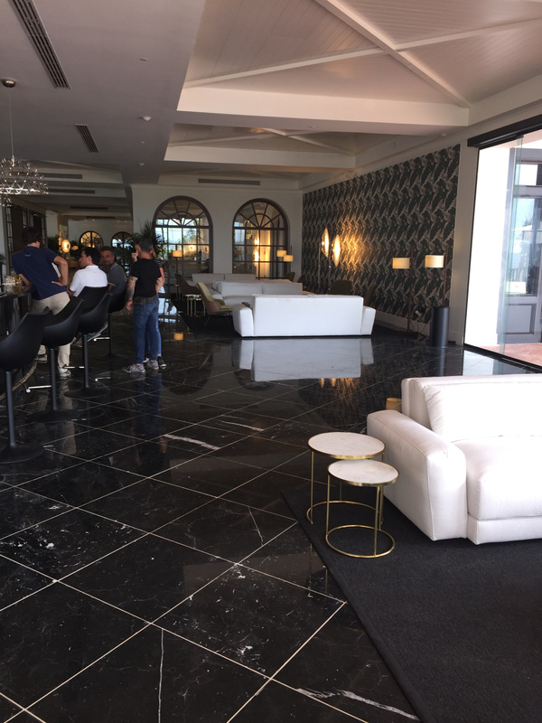 Martini bar looking towards main lobby