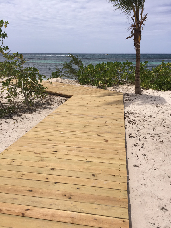 Access to beach from EC deck