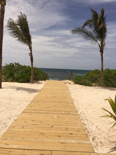 Access to beach from Cielo Bar area by Lovethesun