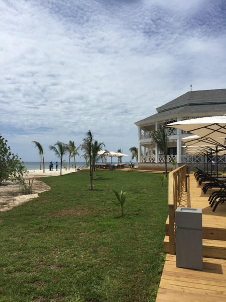 View of EC lounge veranda from the EC pool area by...