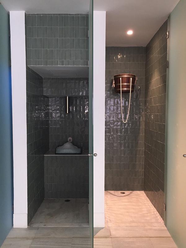 Bucket shower and Ice scrub