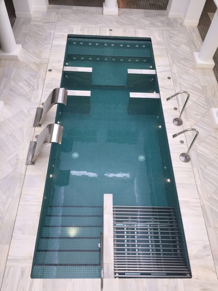 View of hydro pool from second floor by Lovethesun