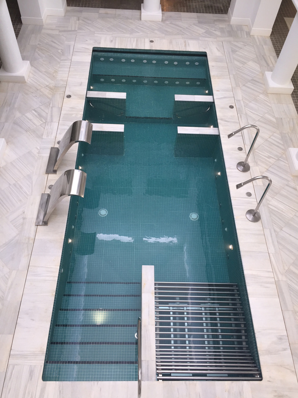 View of hydro pool from second floor