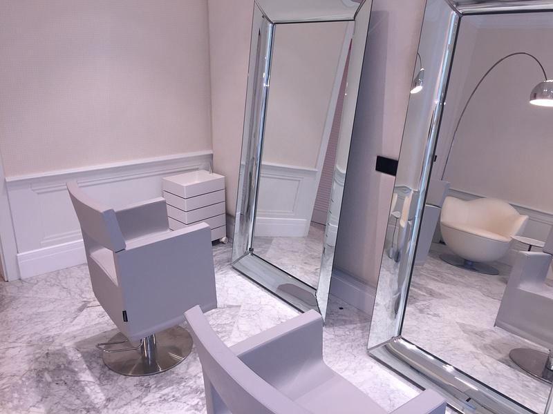 Salon prep area for Brides