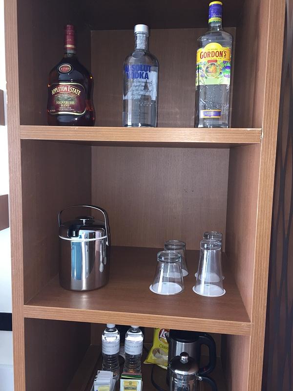 Beach House in room liquor