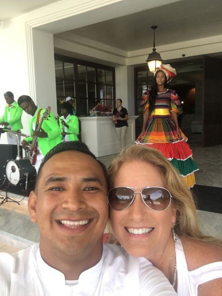 With Nelson Kalixto - all the way here from Mexico by...