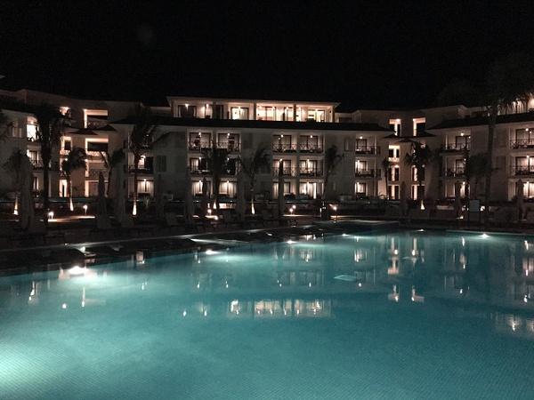 View of resort at night by Lovethesun