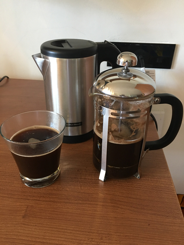 French press in my room