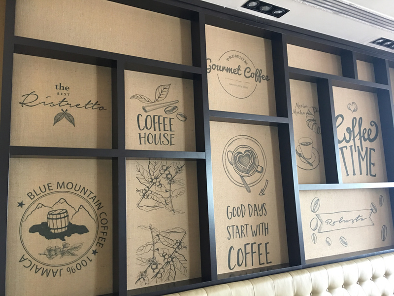 Feature Wall at Aroma
