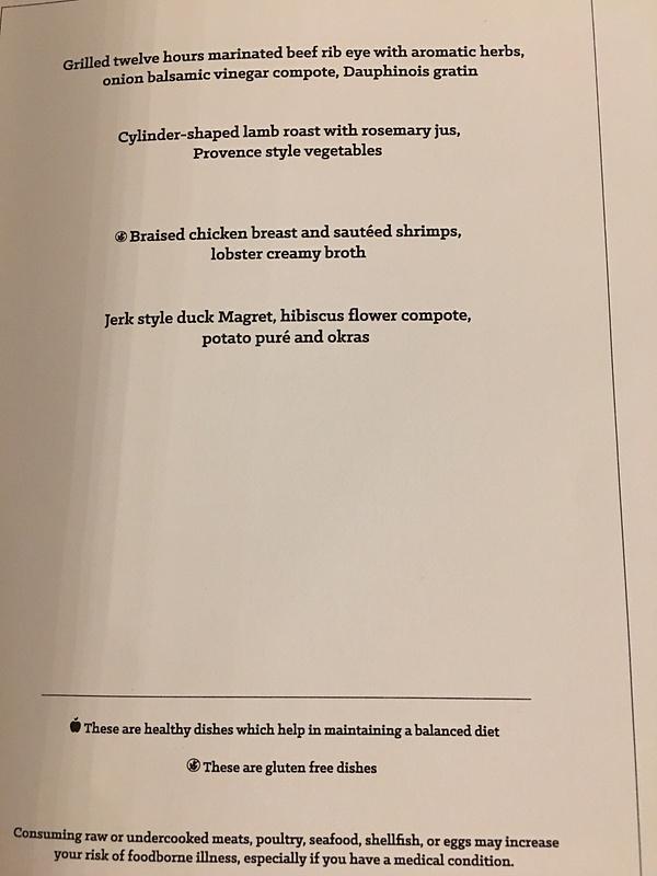 Magna Dinner Menu