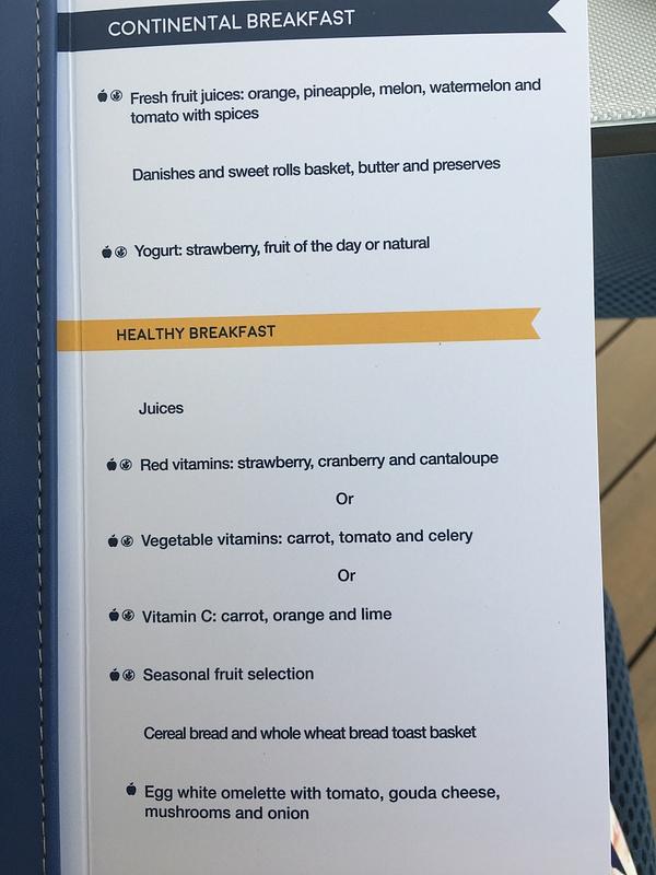 Lobster House Breakfast menu