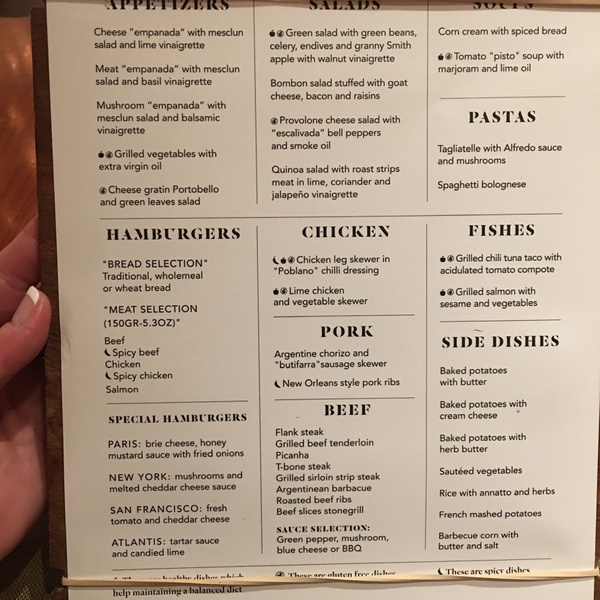 Brass Steakhouse menu by Lovethesun