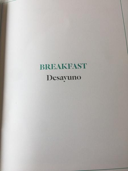Breakfast Menu in the Seaside Bar by Lovethesun