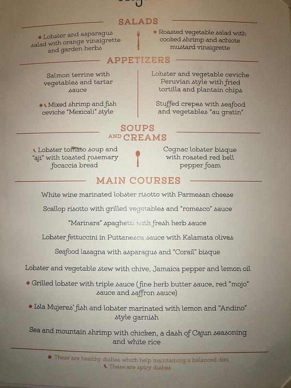 Dukes - Dinner Menu