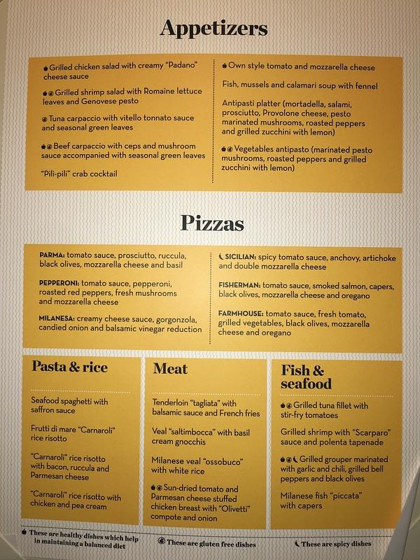 Insieme Trattoria - Dinner Menu