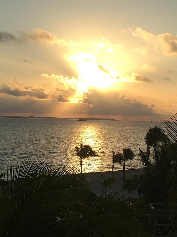 Sunrise over Isla Mujeres