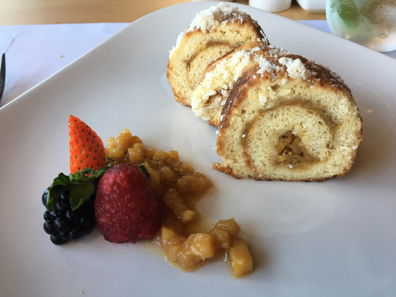 Seaside - Coconut crusted french toast with bananas