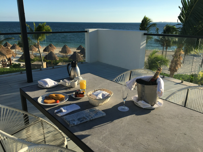 Breakfast on the EC Imperial Suite roof top terrace