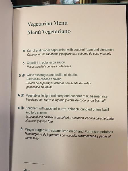 Seaside Bar dinner menu by Lovethesun