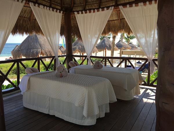 Massage pavillion at the EC Beach by Lovethesun