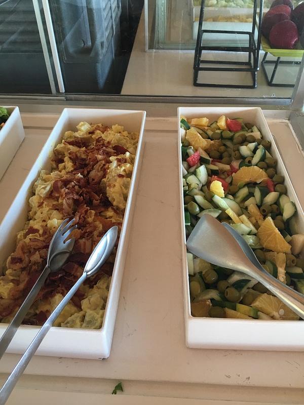 Salads at Las Dunas