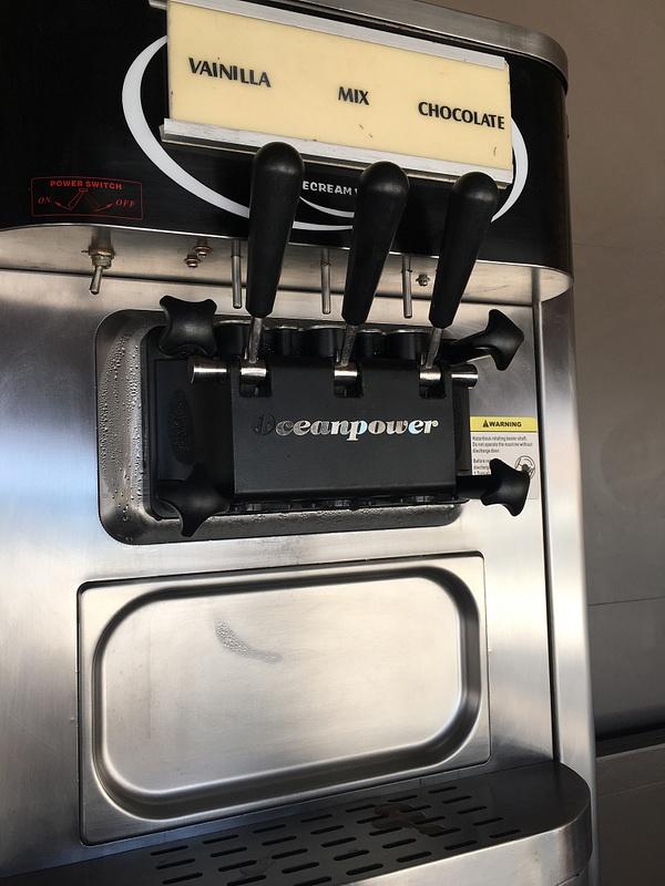 Ice Cream machine at Las Dunas
