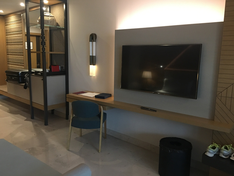 Tv and workstation
