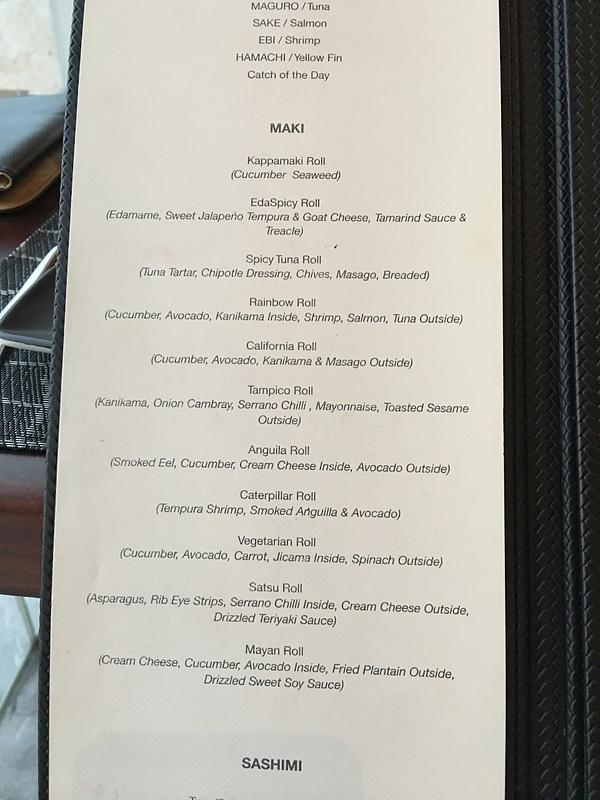 Satsu menu