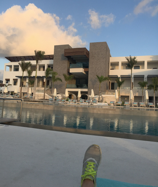View of the main building from pool by Lovethesun