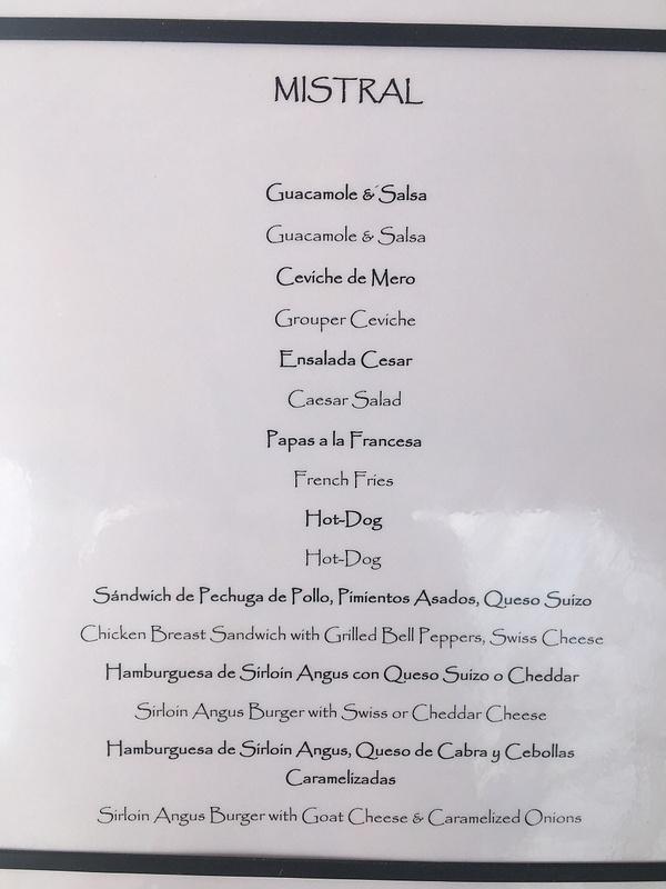 Mistral menu