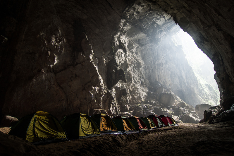Camp inside Son Doong Cave