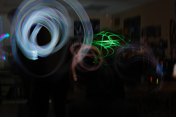 Light graffiti ... LOW LIGHT + LONG EXPOSURES by EstebanGrodriguez