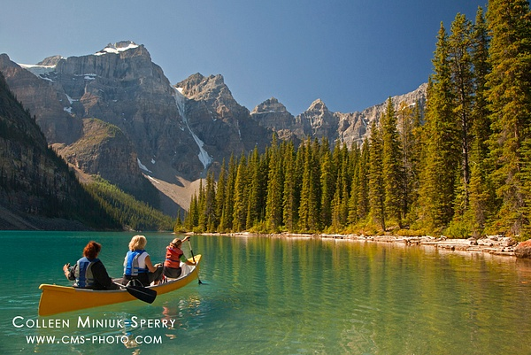Peaceful Paddle on Moraine Lake by Colleen Miniuk-Sperry